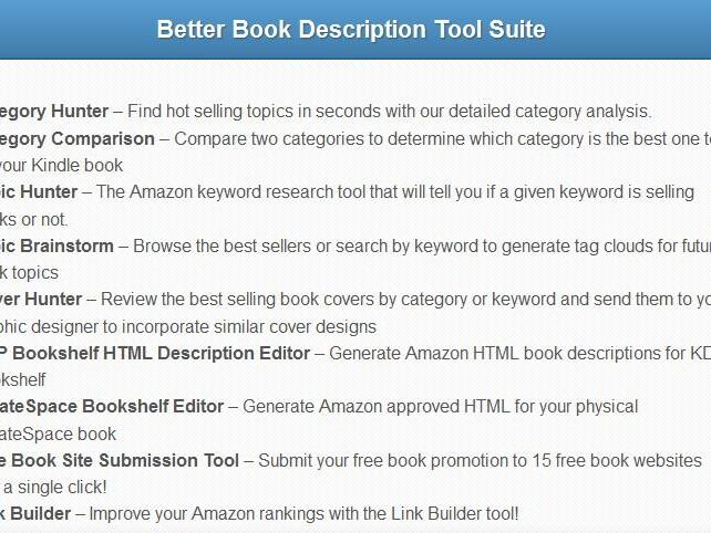 Book Description Amazon Book Descriptions That